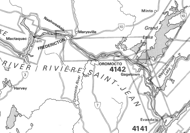 St John River Maine Map.W On St John River 1